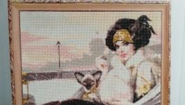 Дама в карете с котом