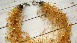 Золотисто-медове кольє