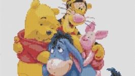 Схема для вышивки картины - Винни и друзья
