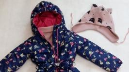 комбинезон утепленный с шапочкой и шарфиком