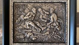Панно ′Охотники на привале′
