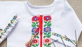 Вышитое платье ′Борщевские мотивы′