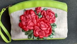Косметичка ручной работы с розами