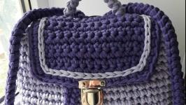 Рюкзачок из трикотажной пряжи