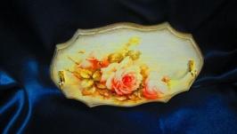 Вешалка-панно ′Romance′ в стиле шебби-шик, подарок маме,жене,подруге
