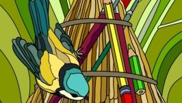 Комплект раскрасок-антистресс ′Птицы′