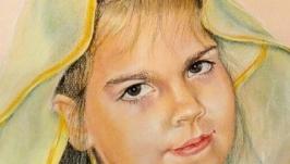 портрет по фото пастелью