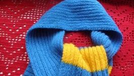Шарф желто-голубой
