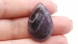 Кабошон капля Ам9 аметист натуральный камень фиолетовый