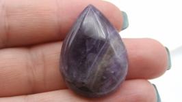 Кабошон капля Ам2 аметист натуральный камень фиолетовый