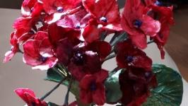 цветок гортензия из полимерной глины