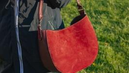Женская кожаная сумка Хобо