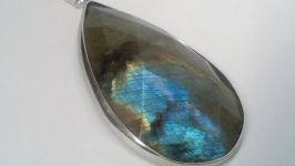 Кулон Лабрадор 5,5 см натуральный камень