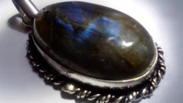 Кулон Лабрадор кабошон натуральный камень