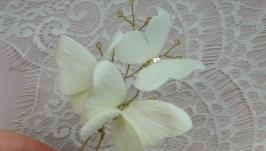 Шпилька «Бабочки» - айвори