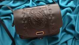 Кожаная сумка ′ЛЕВ′ для мужчин