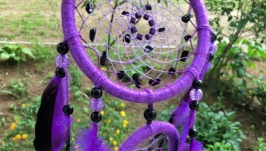 Фиолетовый ловец снов, ловец снов, ловец снов с черным агатом
