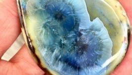 Кабошон из фарфора кристаллической глазуью