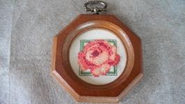 ′Цвет Лета′ . Вышитая миниатюра в рамке