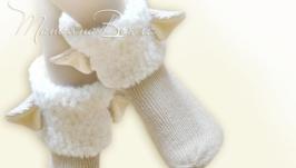 Овечки, носки вязаные женские, детские, мужские, шерстяные