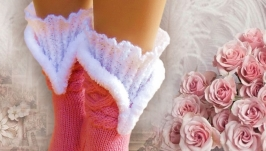 Русские сезоны, носки вязаные женские шерстяные