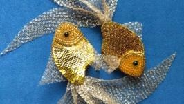 Брошь ′ Золотая рыбка′