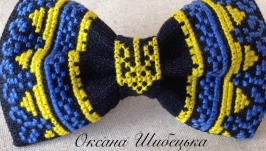Краватка,метелик,блакитно-жовтий метелик, патріотичний метелик