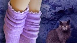 Полнолуние, носки вязаные, шерстяные, женские