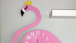 Часы Лебедь в розовом