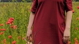 Льняное платье в стиле бохо plus size