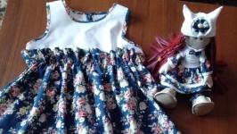 Комплект: сарафан и кукла Снежка
