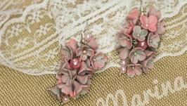 Серьги цветы Серьги-грозди 2