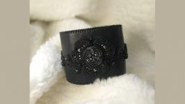 Авторский браслет из кожи