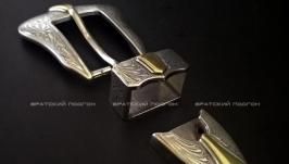 Пряжка ременная, 25 мм, никель