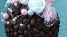 Топиарии кофейный с розочками