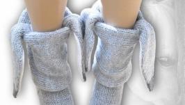 Ослики, носки вязаные женские, детские, мужские, шерстяные