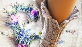 Сказание, носки вязаные женские шерстяные