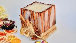 Декоративна свічка з корицею