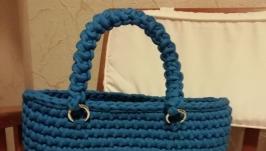сумка-шоппер з трикотажної пряжі