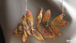 Подвеска - рябина, золотая осень.