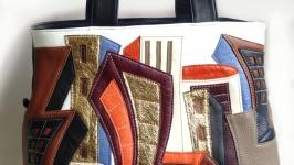 Кожаная сумка ′Города′