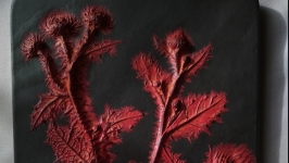 Панно Красное на чёрном