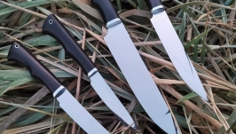 Набор кухонных ножей из кованой стали Х12МФ.