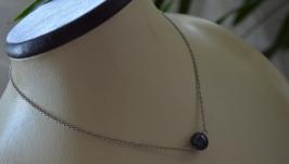 Чокер - цепочка серебристая с жемчужиной ′Тенерифе′