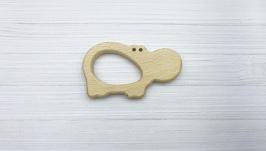 Грызунок деревянный ′Бегемотик′, бук