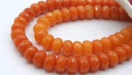 Бусина нефрит рондель 8х5 мм натуральный камень граненный оранжевый