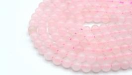 Бусина розовый кварц нить 6 мм натуральный камень круглый