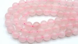 Бусина розовый кварц нить 8 мм натуральный камень круглый