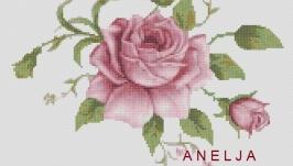 Схема для вышивки картины крестом - Роза