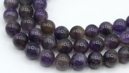 Бусины аметист нить натуральный 10 мм круглый гладкий фиолетовый